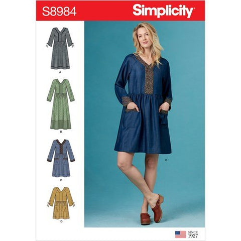 Simplicity Pattern 8984 - Misses' Pocket Dresses