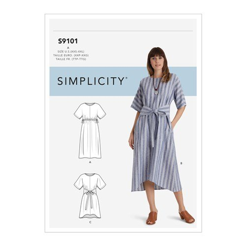 Simplicity Sewing Pattern S9101  - Misses' Pullover Dresses In Two Lengths