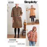 Simplicity Pattern 8298 (A) - Misses' Coat and Jacket (size XS-XL)