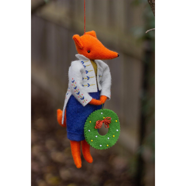 Teasel - Hanging Fox Ornament
