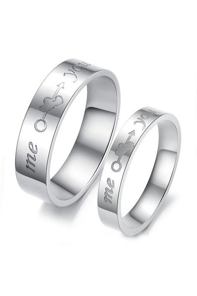 Perhiasan Cincin Couple Pasangan Vernyx You and Me - VERNYX