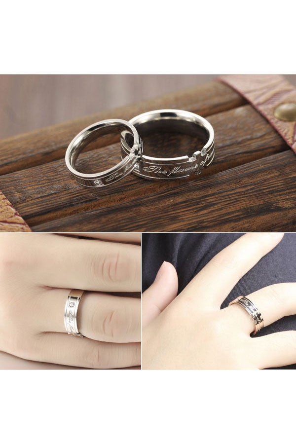 Perhiasan Cincin Couple Pasangan Vernyx Flame of Love - VERNYX