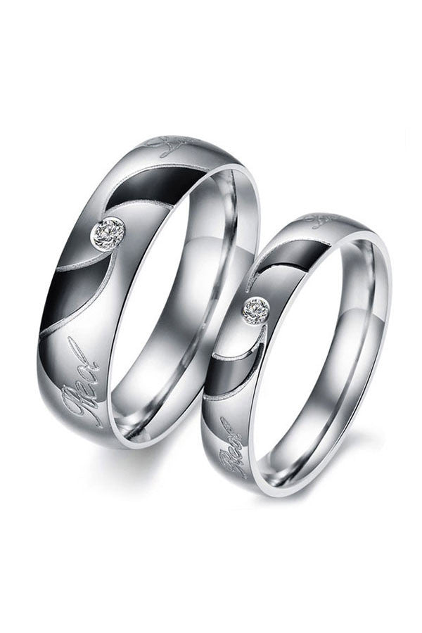 Perhiasan Cincin Couple Pasangan Vernyx Twist of Love - VERNYX