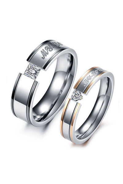 Perhiasan Cincin Couple Pasangan Vernyx My Love - VERNYX