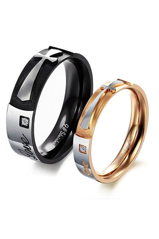 Perhiasan Cincin Couple Pasangan Vernyx Cross Romance - VERNYX
