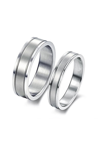 Perhiasan Cincin Couple Pasangan Vernyx Steel Lover - VERNYX