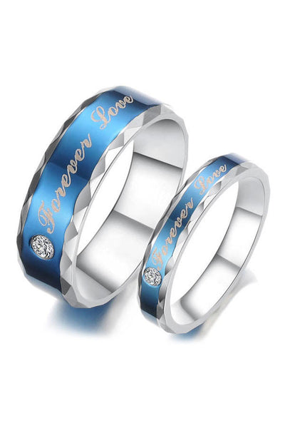 Perhiasan Cincin Couple Pasangan Vernyx Blue Love - VERNYX