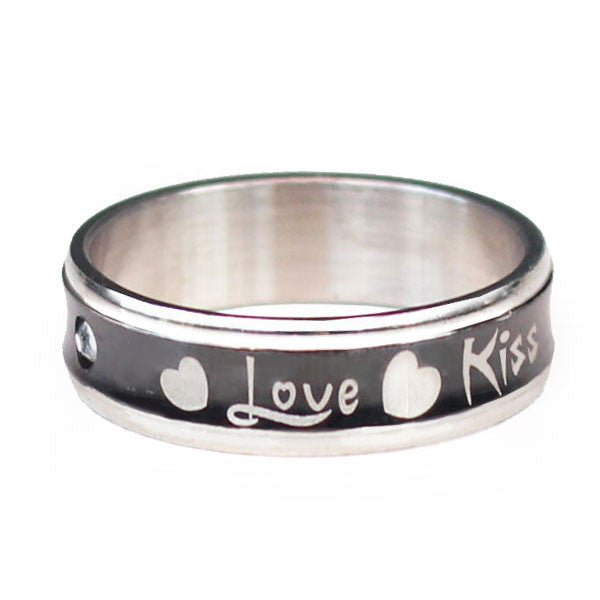 Perhiasan Cincin Stainless Vernyx Love Kiss