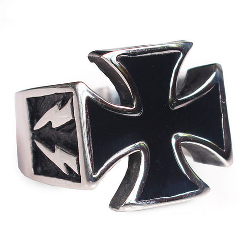 Perhiasan Cincin Gothic Stainless Pria Vernyx Lighning Independent