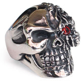 Perhiasan Cincin Gothic Stainless Vernyx Pria Two Face - VERNYX
