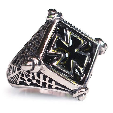 Perhiasan Cincin Gothic Stainless Pria Vernyx Binding Cell
