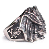Perhiasan Cincin Gothic Stainless Pria Vernyx Rotten Soul