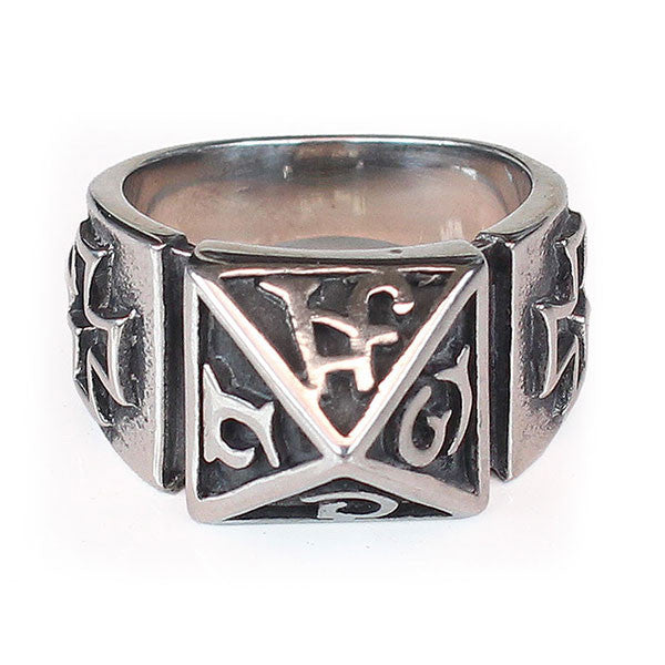 Perhiasan Cincin Gothic Stainless Vernyx Pria Independent Totem - VERNYX