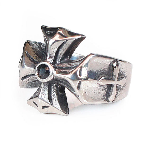 Perhiasan Cincin Gothic Stainless Vernyx Pria Reverse Independent - VERNYX
