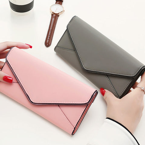Dompet Panjang Wanita Queen Star Zipper Envelope