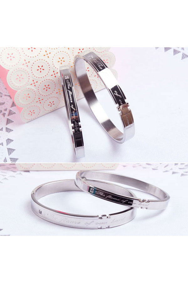 Perhiasan Gelang Couple Pasangan Stainless Vernyx Love Flame - VERNYX