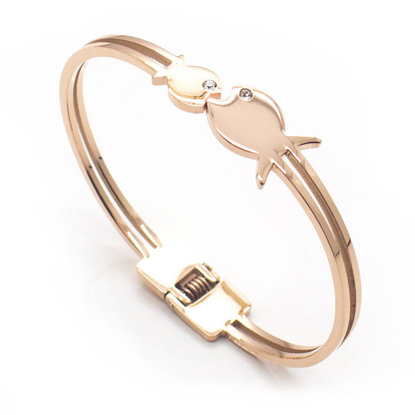 Perhiasan Gelang Wanita Stainless Vernyx Couple Fish - VERNYX