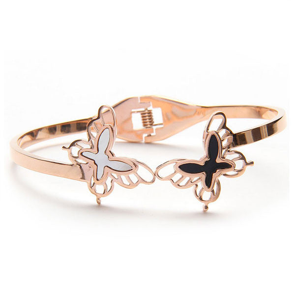 Perhiasan Gelang Stainless Wanita Vernyx Couple Butterfly - VERNYX