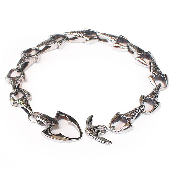 Perhiasan Gelang Gothic Stainless Pria Canine Tooth - VERNYX