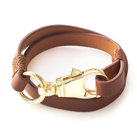 Perhiasan Gelang Leather Wanita Vernyx Hook - VERNYX