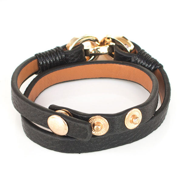 Perhiasan Gelang Leather Wanita Vernyx Unlimit - VERNYX