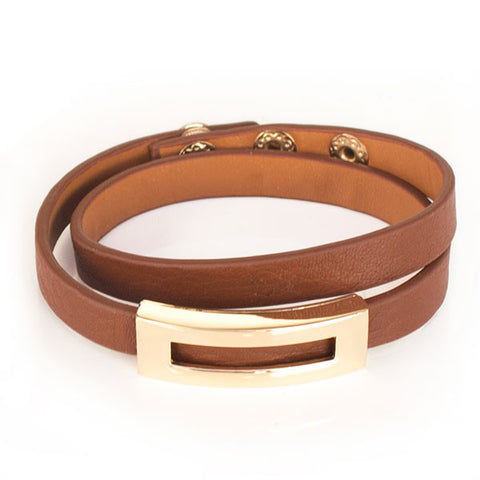 Perhiasan Gelang Leather Wanita Vernyx Symetric