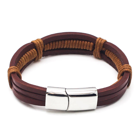 Perhiasan Gelang Leather Pria Vernyx Wellfago