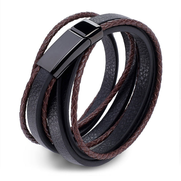 Perhiasan Gelang Leather Pria Vernyx Therawolf - VERNYX