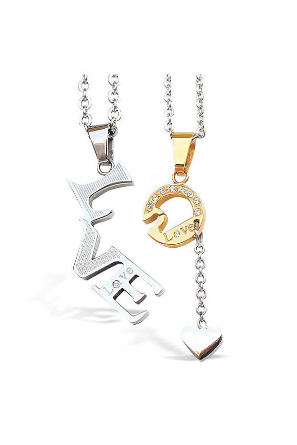 Perhiasan Kalung Couple Perhiasan Stainless Vernyx Our Love - VERNYX