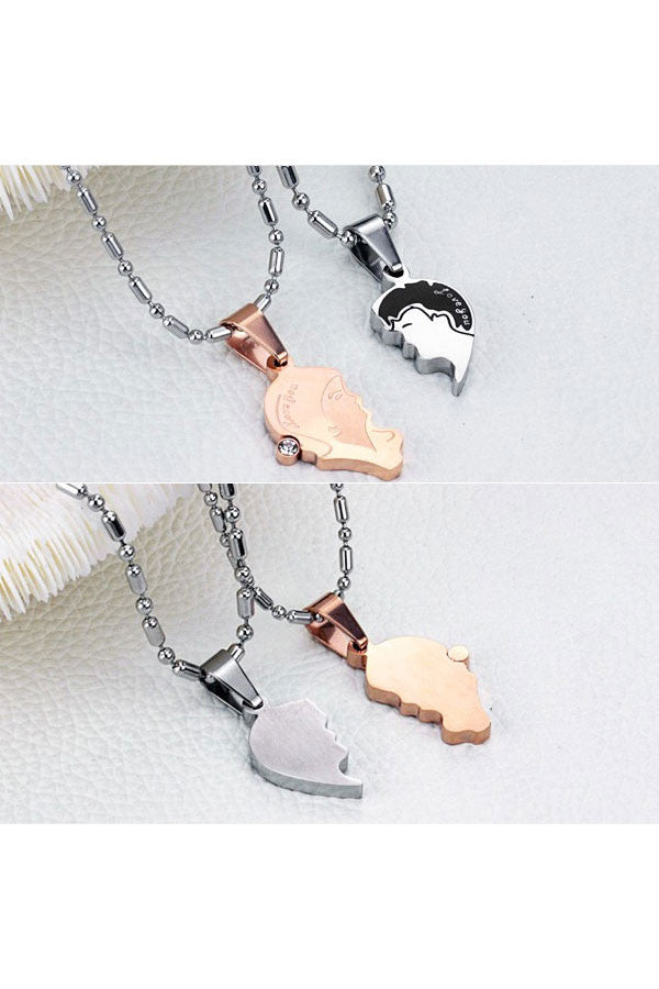 Perhiasan Kalung Couple Pasangan Stainless Vernyx Your Face - VERNYX