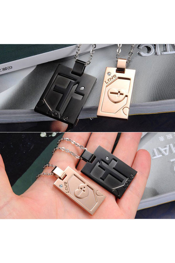 Perhiasan Kalung Couple Pasangan Stainless Vernyx Cross - VERNYX