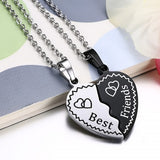 Perhiasan Kalung Couple Stainless Vernyx Best Friend - VERNYX