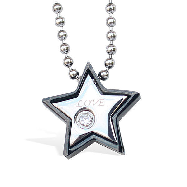 Perhiasan Kalung Stainless Wanita Vernyx Fancy Star - VERNYX