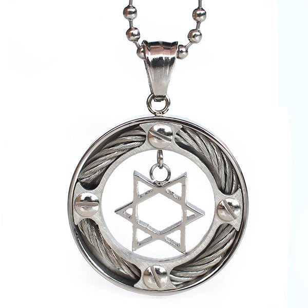 Perhiasan Kalung Stainless Pria Vernyx Wired Star - VERNYX
