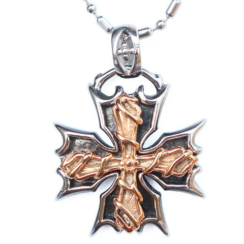 Perhiasan Kalung Gothic Stainless Pria Vernyx Burning Independence