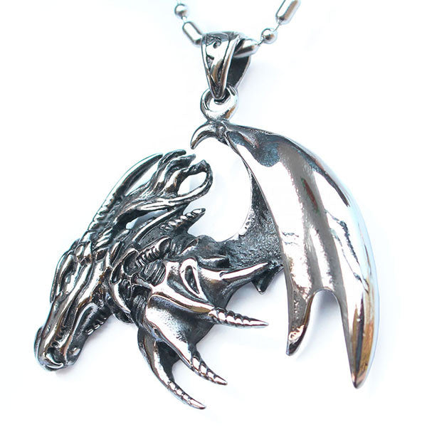 Perhiasan Kalung Gothic Stainless Pria Vernyx Dragon Sign - VERNYX