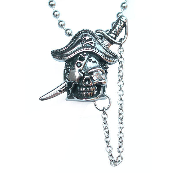 Perhiasan Kalung Gothic Stainless Pria Vernyx Pirate Captain - VERNYX