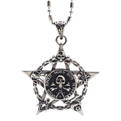 Perhiasan Kalung Gothic Pria Vernyx Mark of Death