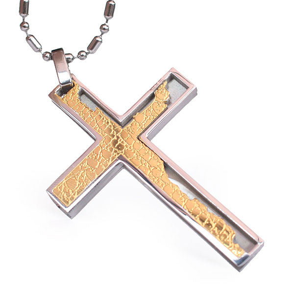 Perhiasan Kalung Salib Pria Stainless Vernyx Cracken Cross - VERNYX