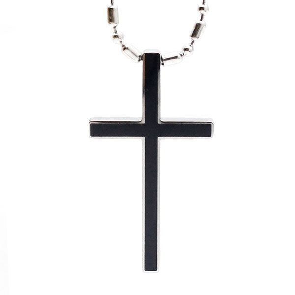Perhiasan Kalung Salib Pria / Wanita Stainless Vernyx Line Of Faith Cross - VERNYX