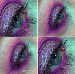 purple and green eyeshadow eye makeup