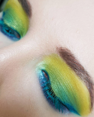 Lime green eyeshadow