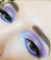 pastel purple and blue eyeshadow look