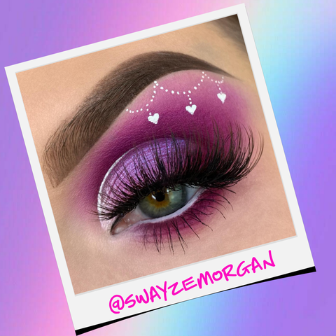 Purple Eye Makeup Look For Valentine's Day