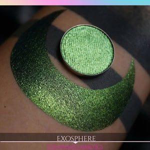 Multichrome multi chrome green yellow blue teal eyeshadow eye shadow