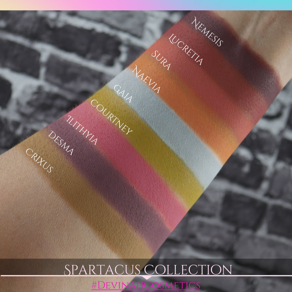Spartacus inspired matte eyeshadow color story