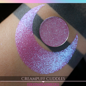 Creampuff Cuddles pink blue duochrome shifty trichrome sparkly multichrome eyeshadow