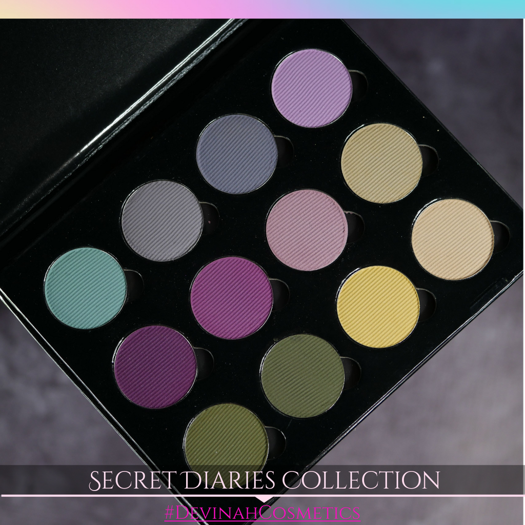 Secret Diaries Berry mauve green matte eyeshadow set