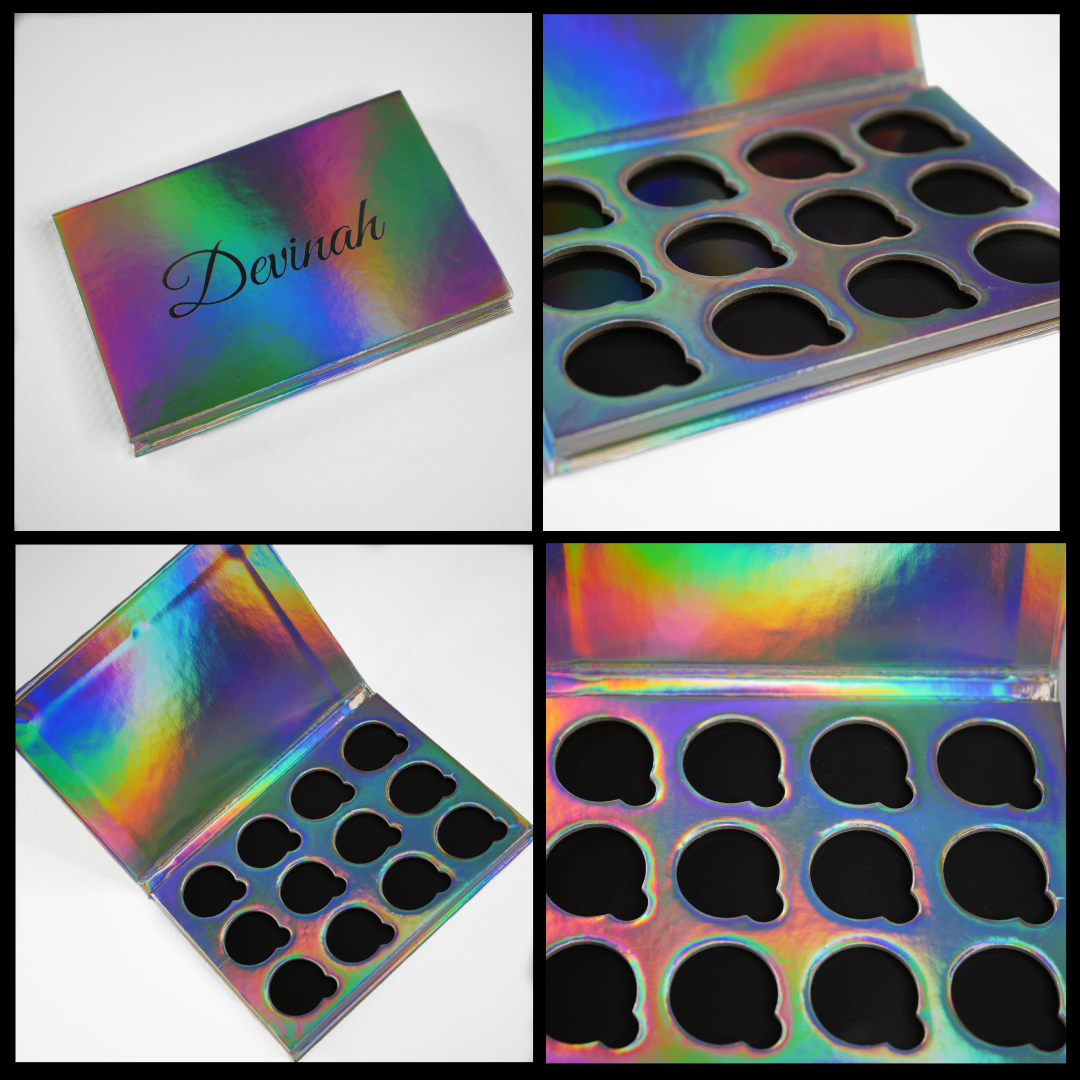Holographic Iridescent Rainbow 12 pan eyeshadow palette
