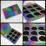 Holographic Iridescent Rainbow 9 pan eyeshadow palette